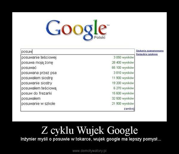 Z cyklu Wujek Google –   Inżynier myśli o posuwie w tokarce, wujek google ma lepszy pomysł...