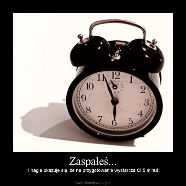 Zaspałeś... –  i nagle okazuje się, że na przygotowanie wystarcza Ci 5 minut.