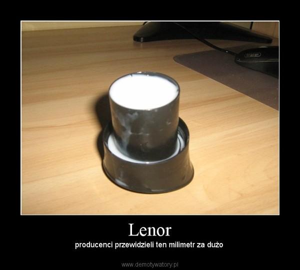 Lenor – producenci przewidzieli ten milimetr za dużo