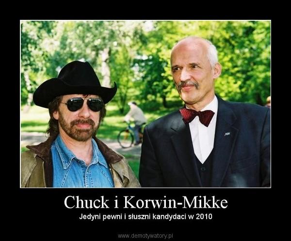 Chuck i Korwin-Mikke – Jedyni pewni i słuszni kandydaci w 2010