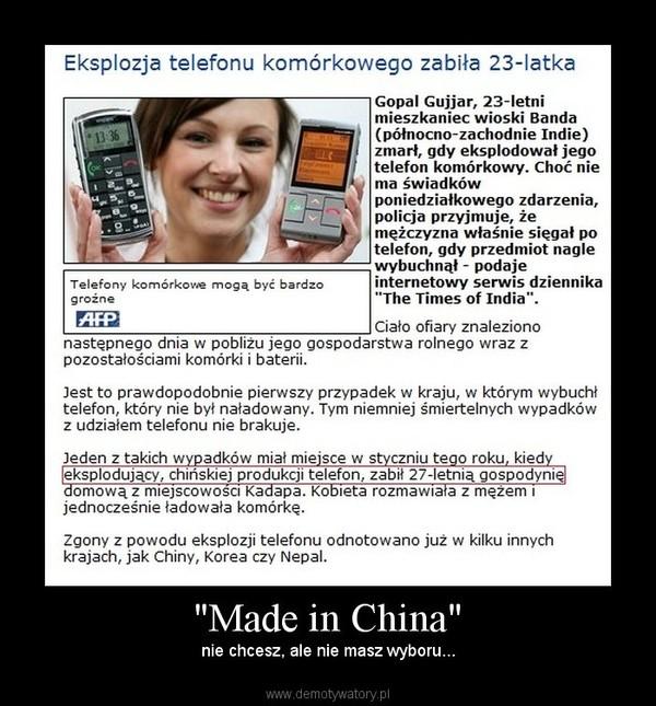 """""""Made in China"""" – nie chcesz, ale nie masz wyboru..."""