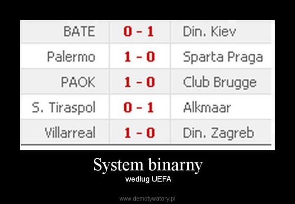 System binarny –  według UEFA