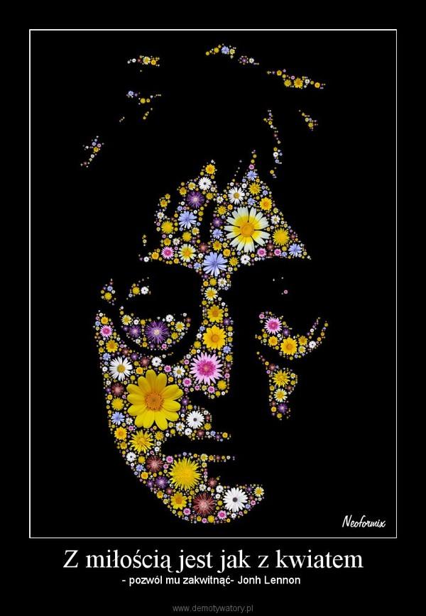 Z miłością jest jak z kwiatem – - pozwól mu zakwitnąć- Jonh Lennon