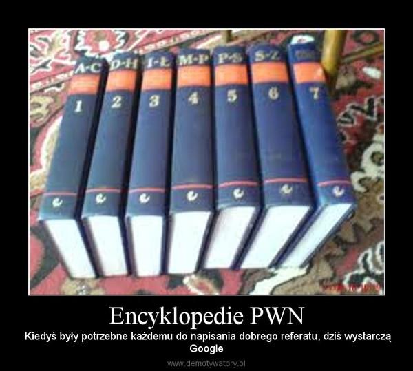 Encyklopedie PWN – Kiedyś były potrzebne każdemu do napisania dobrego referatu, dziś wystarcząGoogle