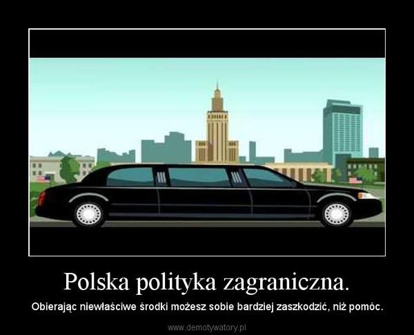 Polska polityka zagraniczna. – Obierając niewłaściwe środki możesz sobie bardziej zaszkodzić, niż pomóc.