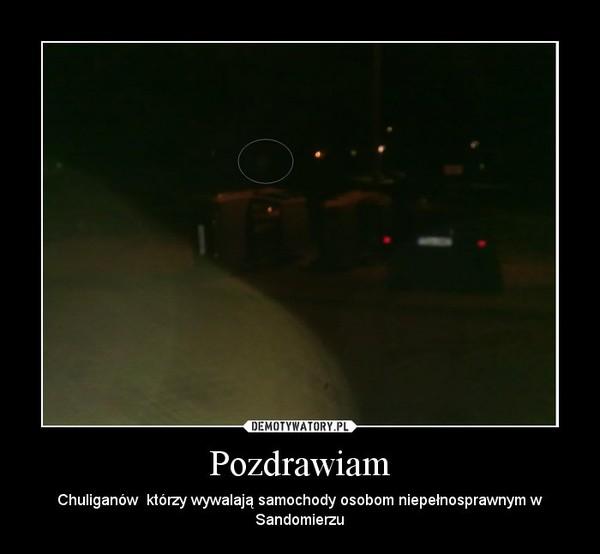 Pozdrawiam – Chuliganów  którzy wywalają samochody osobom niepełnosprawnym w Sandomierzu