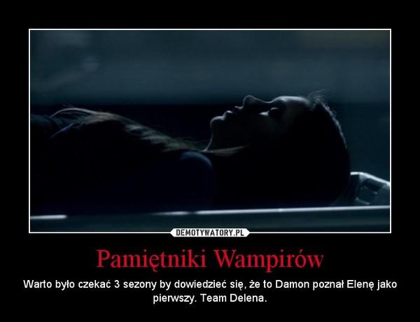 Pamiętniki Wampirów – Warto było czekać 3 sezony by dowiedzieć się, że to Damon poznał Elenę jako pierwszy. Team Delena.