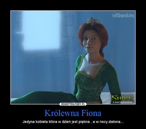 Królewna Fiona – Jedyna kobieta która w dzień jest piękna , a w nocy zielona...