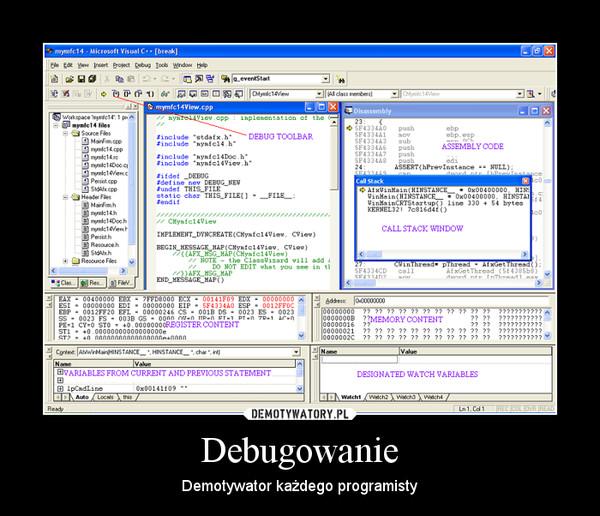 Debugowanie – Demotywator każdego programisty