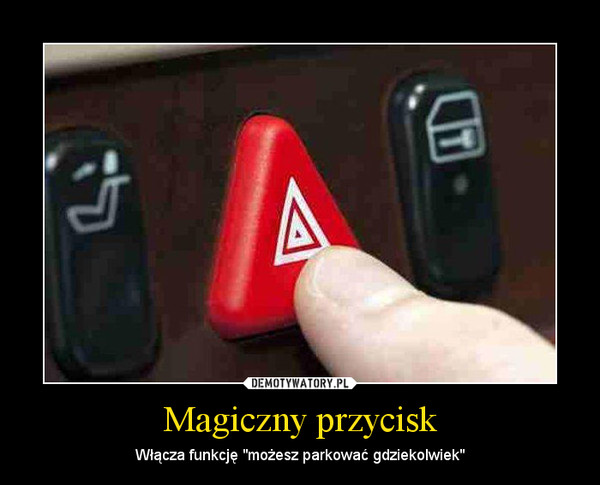 """Magiczny przycisk – Włącza funkcję """"możesz parkować gdziekolwiek"""""""