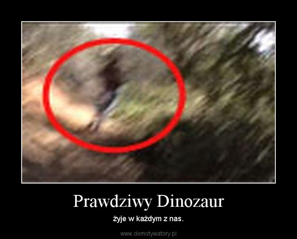 Prawdziwy Dinozaur – żyje w każdym z nas.