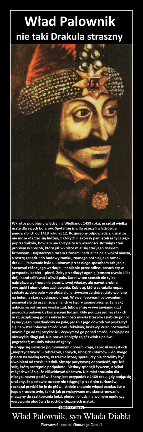 Wład Palownik, syn Włada Diabła – Pierwowzór postaci filmowego Draculi