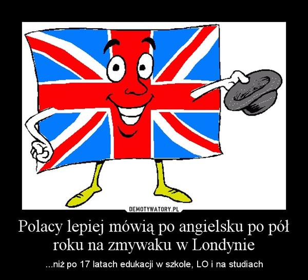 Polacy lepiej mówią po angielsku po pół roku na zmywaku w Londynie – ...niż po 17 latach edukacji w szkole, LO i na studiach
