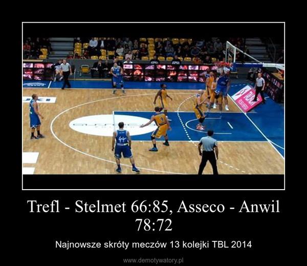 Trefl - Stelmet 66:85, Asseco - Anwil 78:72 – Najnowsze skróty meczów 13 kolejki TBL 2014