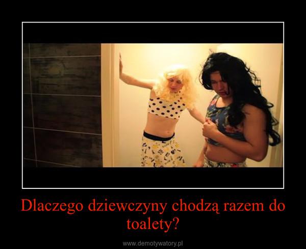 Dlaczego dziewczyny chodzą razem do toalety? –
