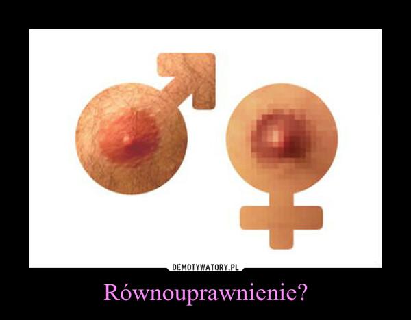 Równouprawnienie? –