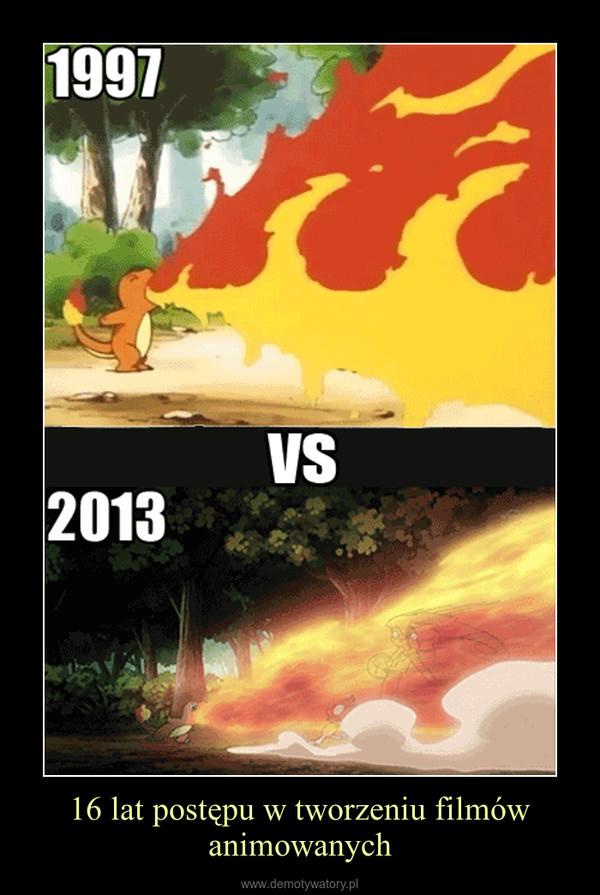 16 lat postępu w tworzeniu filmów animowanych –