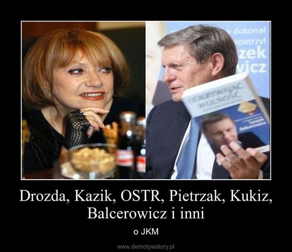 Drozda, Kazik, OSTR, Pietrzak, Kukiz, Balcerowicz i inni – o JKM