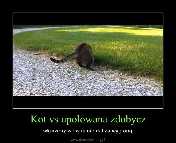 Kot vs upolowana zdobycz – wkurzony wiewiór nie dał za wygraną