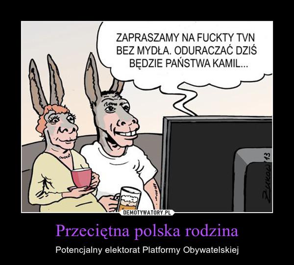 Przeciętna polska rodzina – Potencjalny elektorat Platformy Obywatelskiej