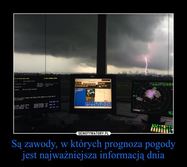 Są zawody, w których prognoza pogody jest najważniejsza informacją dnia –