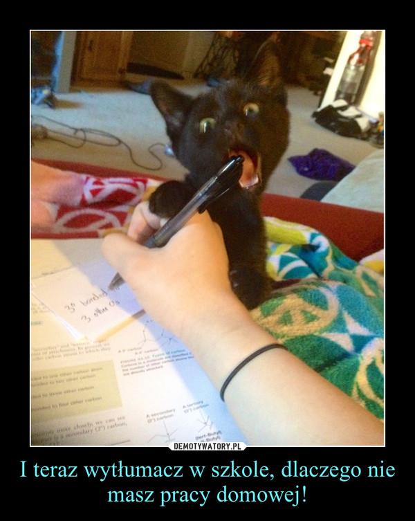 I teraz wytłumacz w szkole, dlaczego nie masz pracy domowej! –