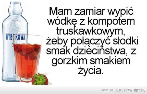 Wódka z kompotem truskawkowym –