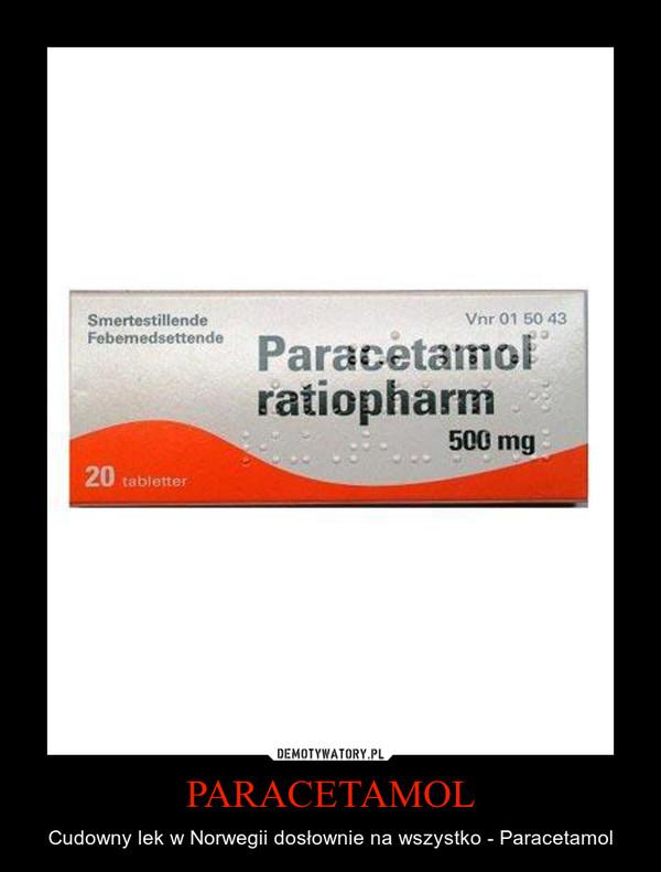 PARACETAMOL – Cudowny lek w Norwegii dosłownie na wszystko - Paracetamol