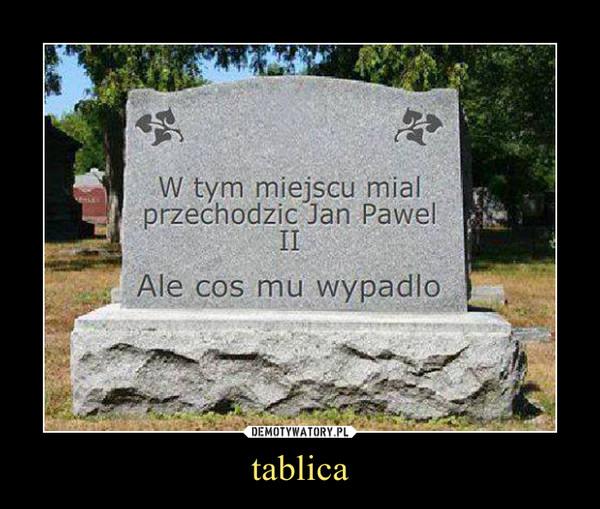 tablica –