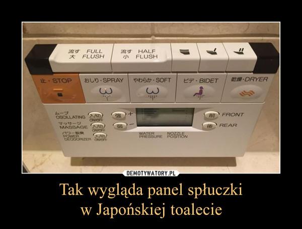 Tak wygląda panel spłuczkiw Japońskiej toalecie –