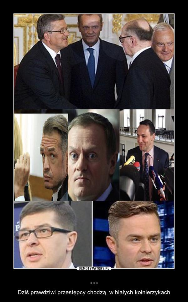 ... – Dziś prawdziwi przestępcy chodzą  w białych kołnierzykach