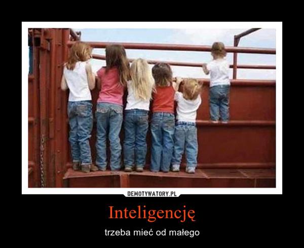 Inteligencję – trzeba mieć od małego