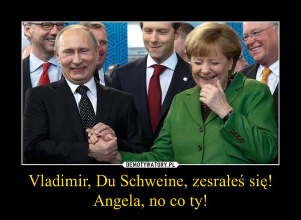 Vladimir, Du Schweine, zesrałeś się!Angela, no co ty! –
