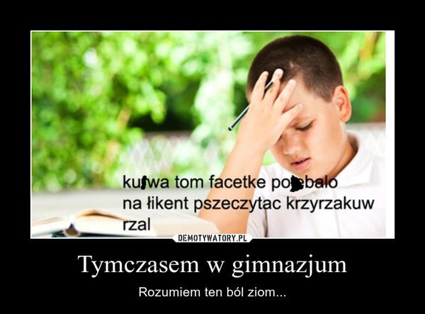 Tymczasem w gimnazjum – Rozumiem ten ból ziom...