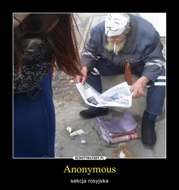 Anonymous – sekcja rosyjska