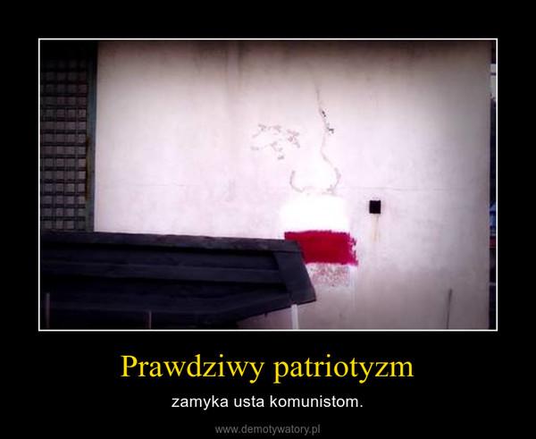 Prawdziwy patriotyzm – zamyka usta komunistom.