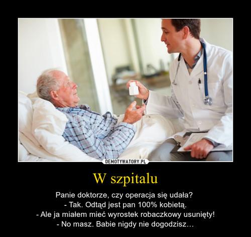 W szpitalu