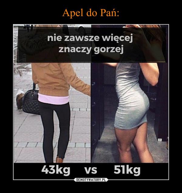 –  nie zawsze więcej znaczy gorzej45kg vs 51kg