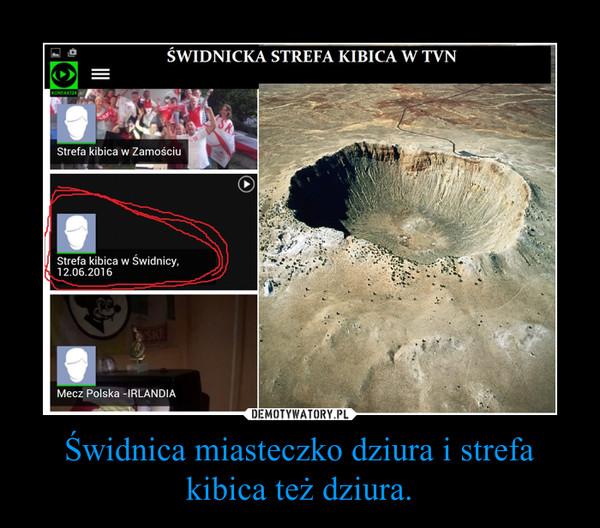 Świdnica miasteczko dziura i strefa kibica też dziura. –