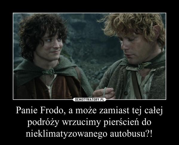 Panie Frodo, a może zamiast tej całej podróży wrzucimy pierścień do nieklimatyzowanego autobusu?! –