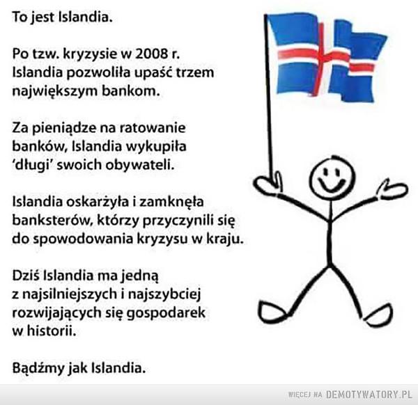 Bądź jak Islandia –