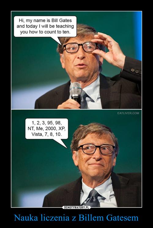 Nauka liczenia z Billem Gatesem