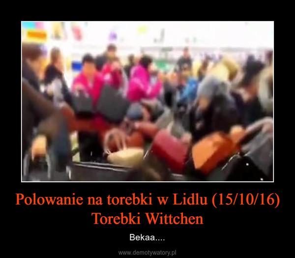 Polowanie na torebki w Lidlu (15/10/16) Torebki Wittchen – Bekaa....