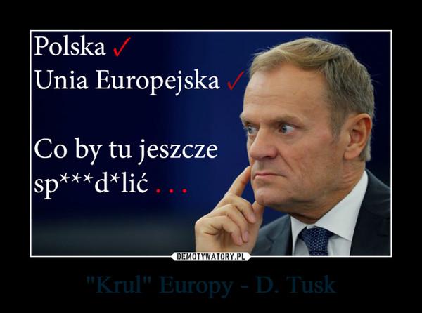 """Krul"" Europy - D. Tusk –"