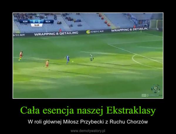 Cała esencja naszej Ekstraklasy – W roli głównej Miłosz Przybecki z Ruchu Chorzów
