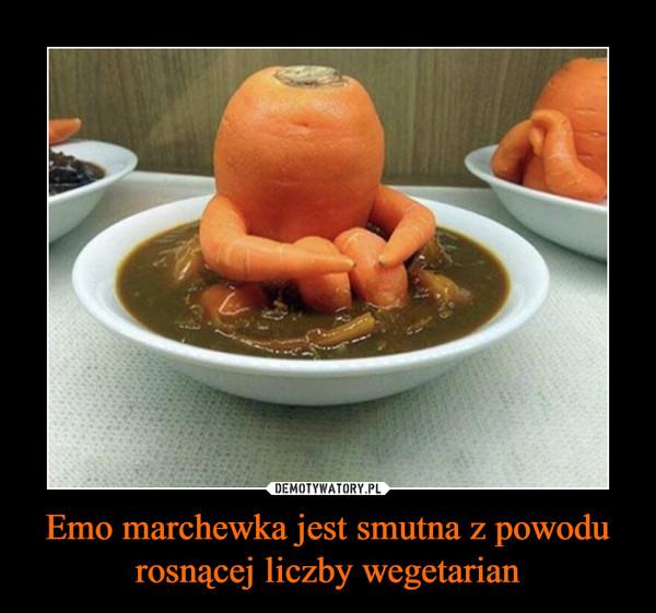 Emo marchewka jest smutna z powodu rosnącej liczby wegetarian –