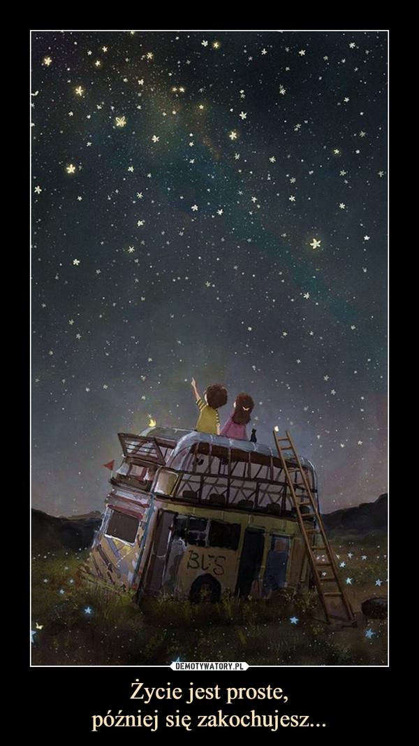 Życie jest proste,później się zakochujesz... –