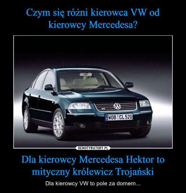 Dla kierowcy Mercedesa Hektor to mityczny królewicz Trojański – Dla kierowcy VW to pole za domem...