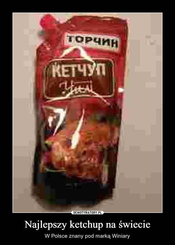 Najlepszy ketchup na świecie – W Polsce znany pod marką Winiary