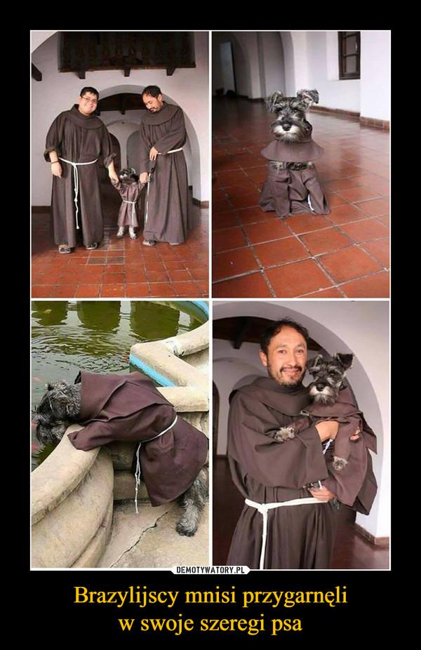 Brazylijscy mnisi przygarnęliw swoje szeregi psa –